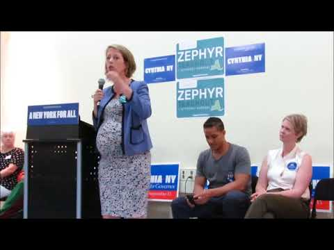 Zephyr Teachout -  Candidate for NY Attorney General -  Progressive Rally  -  Ithaca, NY -  9-1-18