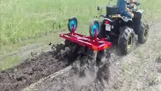 Brona talerzowa quad Can Am Renegade 800 ATV disc at work