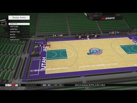 NBA 2K16 Arena Creation: Utah Jazz 1997-1999 (Delta Center) (PS4)