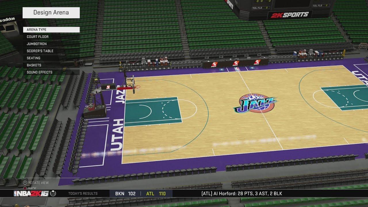 NBA 2K16 Arena Creation: Utah Jazz 1997-1999 (Delta Center ...