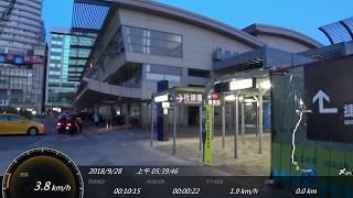 高雄捷運 高雄車站(永久站)SONY FDR-X3000 Action Cam GPS 參數資料 進站路程景