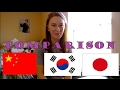 Chinese, Korean, and Japanese Language Comparison | Which is the most difficult??