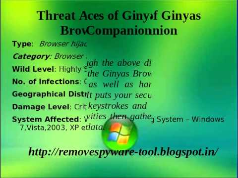 Uninstall Ginyas Browser Companion - How to uninstall Ginyas Browser Companion