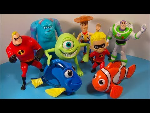 2005 Disney S Pixar Pals Set Of 8 Mcdonald S Happy Meal