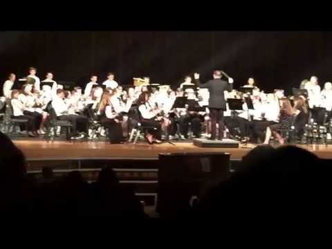"Strayer Middle School 7th grade band ""Marche Diabolique"" 5.8.15"