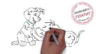 Смотреть онлайн 101 далматинец  Как нарисовать щенка из мультфильма 101 далматинец