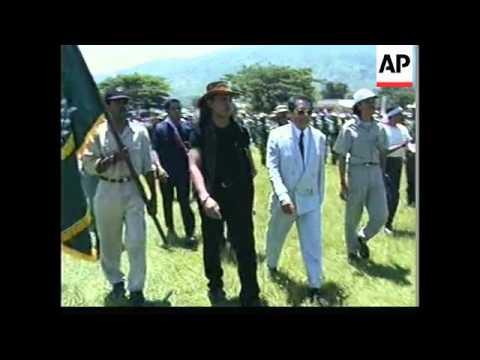 EAST TIMOR: ARMED MILITIAMEN RALLY AT MALIANA