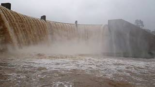 Cradle Moon Dam wall overflow