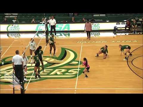 North Texas Volleyball vs Charlotte Highlights 10/22/17