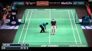 Badminton 2015 | Lin Dan vs Viktor Axelsen . New