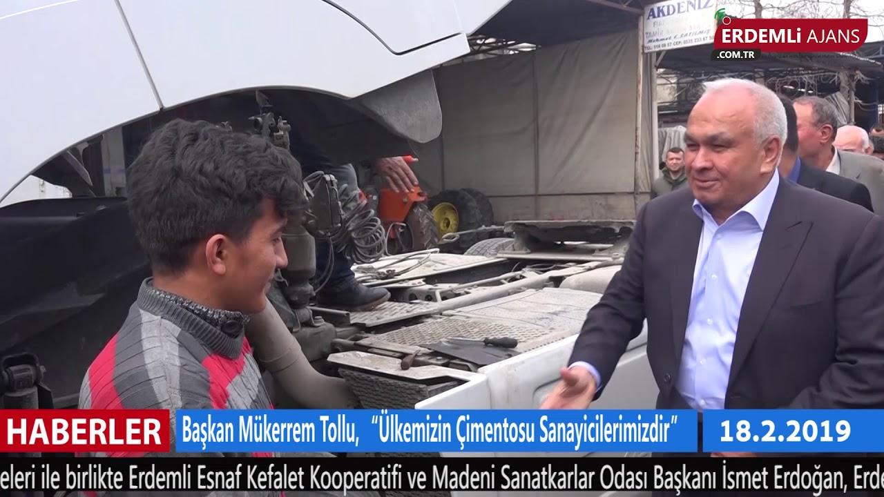 """Başkan Mükerrem Tollu, """"Ülkemizin Çimentosu Sanayicilerimizdir"""""""