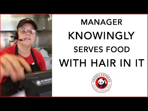 Bad Manager Knowingly Serves HAIR IN FOOD To Customers at Panda Express