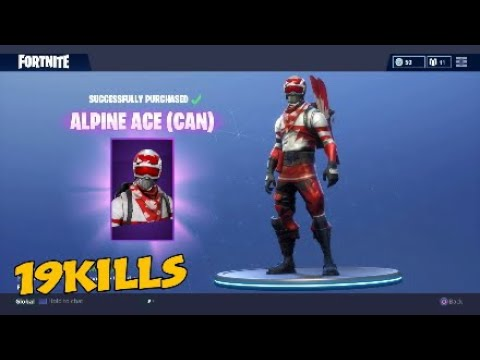 *new* Alpine Ace Skin! (Fortnite Battle Royal)
