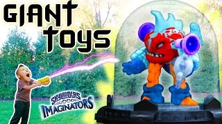 GIANT TOY vs. SHRINK RAY! Skylanders Imaginators Creator App 3D Printed Toys Fun w/ Yelling Baby