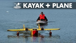 Giant RC Plane Pulls Kayak | Sea Duck