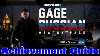 PAYDAY 2: Gage Russian Weapon Pack DLC - Achievements Guide - All 4 Masks