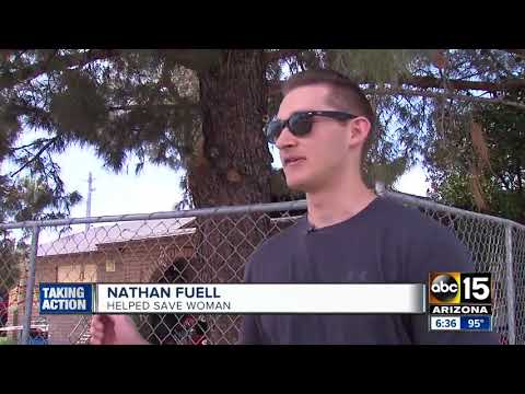 Off-duty firefighter saves woman in Tempe