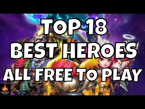 Castle Clash Top 18 BEST HEROES F2P Free To Play