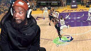 Damian Lillard Went For His Career High On Me! Lakers vs Blazers Playoff Game 2! MyCareer Ep 29