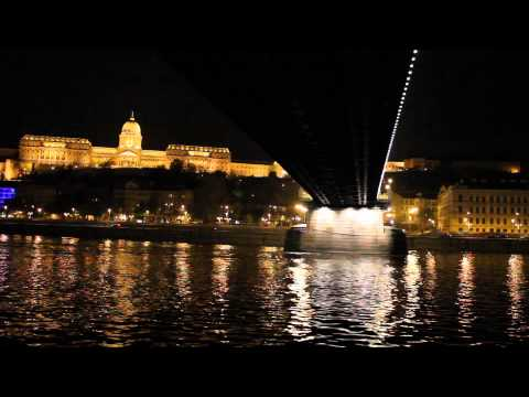 Buda Castle from the Danube River at night