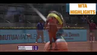 Serena Williams vs Victoria Azarenka 2015 Madrid 3R Highlights