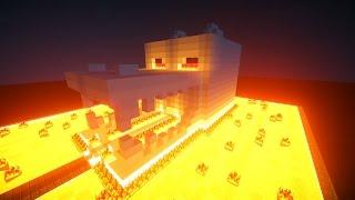 Майнкрафт Урок: Как построить ДОМ ОГНЕННЫЙ ЧЕРЕП ДРАКОНА ЭНДЕРА - дом для выживания