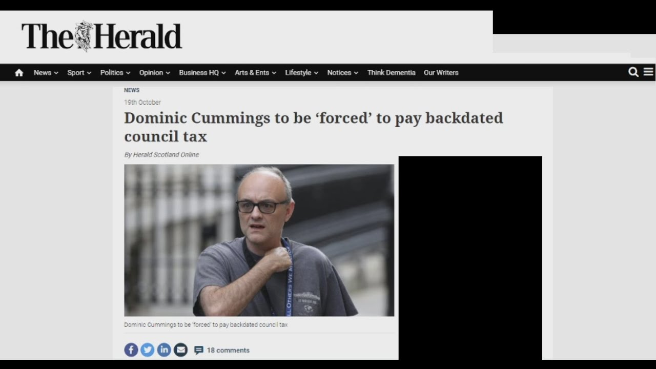 """Cummings & goings: Going to be """"forced"""" to pay Council Tax he owes"""