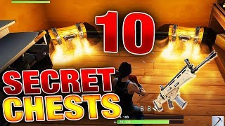 Top 10 HIDDEN SECRET Chest Spots! (Fortnite Battle Royale) BEST LOOT LOCATIONS!