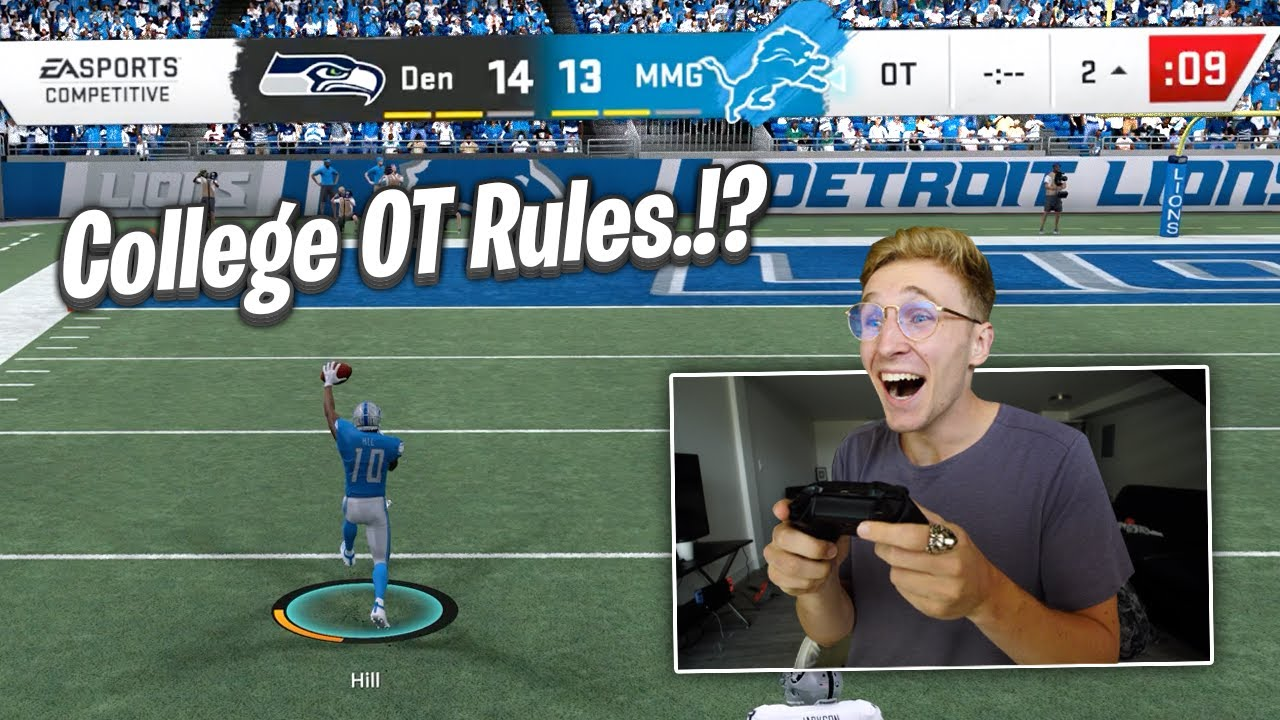 Madden 20... But With College Football OT Rules!