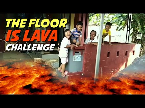 Pixel main The Floor is Lava Challenge seru banget !!!