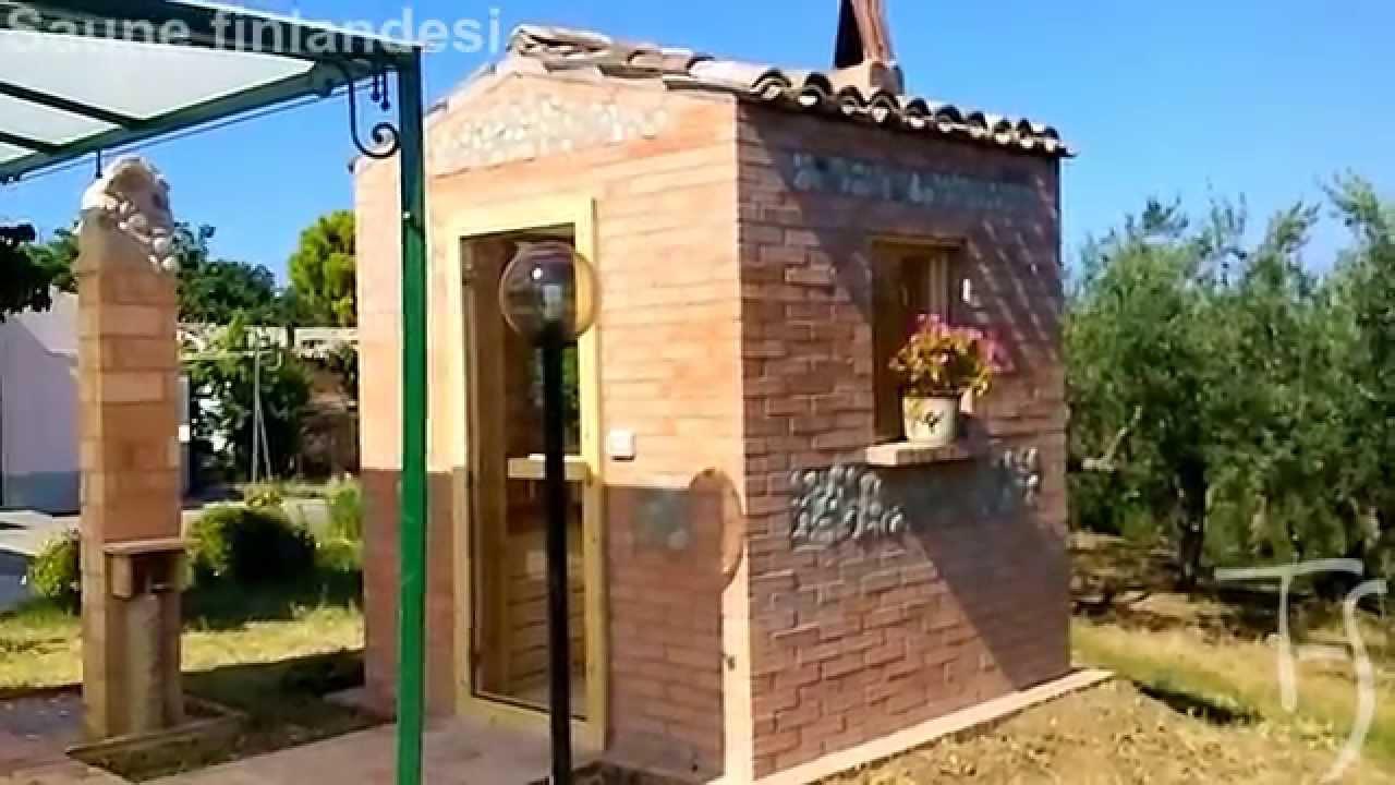 Sauna finlandese a casetta con stufa a legna youtube for Costruire una sauna in casa