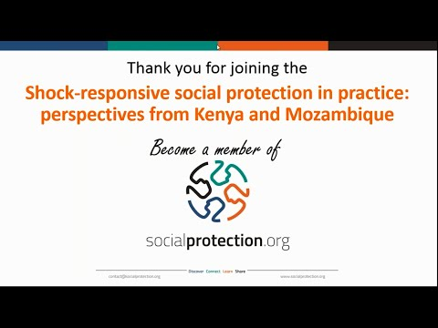 Shock responsive social protection in practice perspectives from Kenya and Mozambique