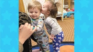 BEST FUNNY CUTE TODDLERS HUGGING AND KISSING SIBLINGS | Funny Babies Videos Compilation