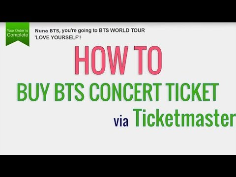 How to buy BTS concert tickets via Ticketmaster.com Mp3