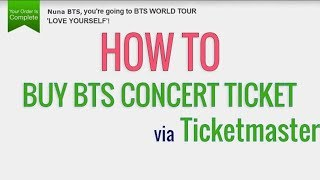 How to buy BTS concert tickets via Ticketmaster