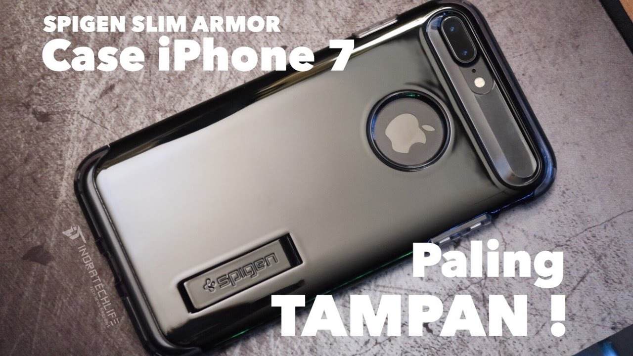 new products 4bfeb eab39 SPIGEN Slim Armor for iPhone 7 Plus - Review Case Ganteng! - indratechlife