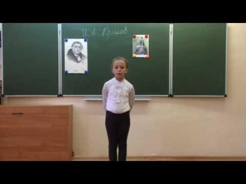 Изображение предпросмотра прочтения – СтефанияЗатушевская читает произведение «Ворона и Лисица» И.А.Крылова
