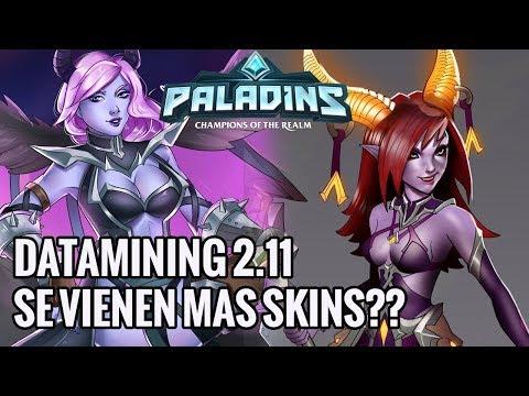 Paladins | DATAMINING 2.11 Se Vienen Muchas Nuevas Skins ?