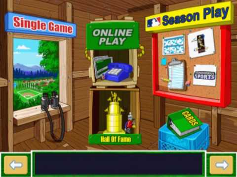 backyard baseball 2001 main menu youtube