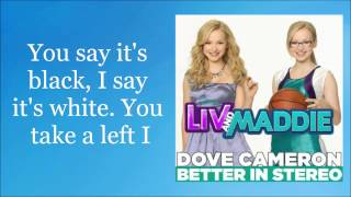 Repeat youtube video Dove Cameron - Better In Stereo (Lyric Video)