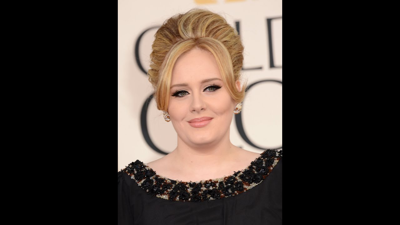 Adele oscars up do hair tutorial youtube baditri Image collections