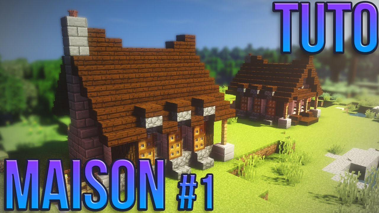 Tuto belle maison 1 minecraft youtube - Minecraft tuto construction maison ...