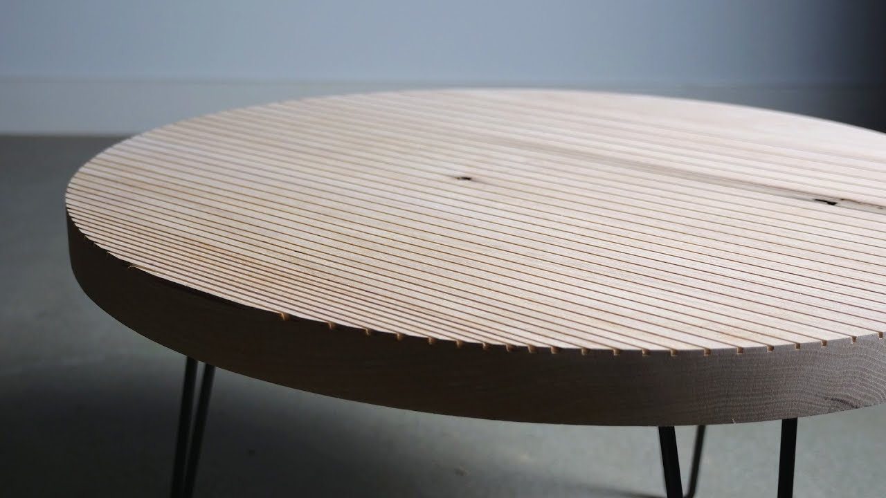 Building A Round Patterned Coffee Table Diy Woodworking