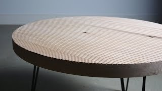 Building a Round, Patterned Coffee Table // DIY Woodworking