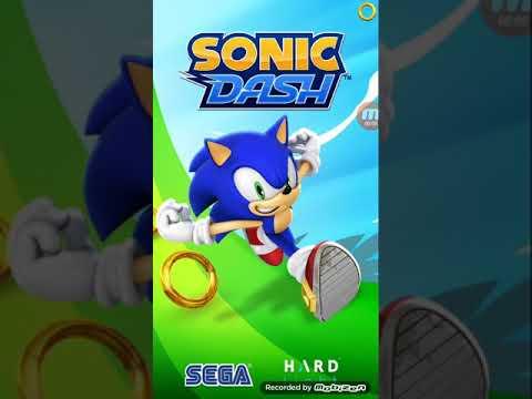 Моё первое видео по игре Sonic DASH!!!!!