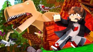 Minecraft: NOVO DESAFIO DA BASE 100% SEGURA CONTRA DINOSSAURO ‹ JUAUM ›