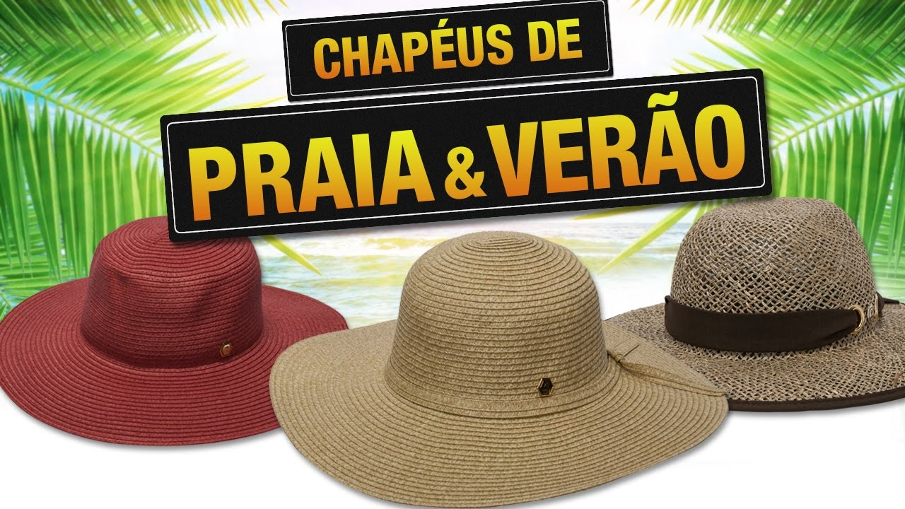 CHAPÉUS DE PRAIA E PROTEÇÃO SOLAR - YouTube faf5f3b4b9