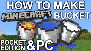 how to make a minecraft bucket pocket edition pc xbox ps4 ps3