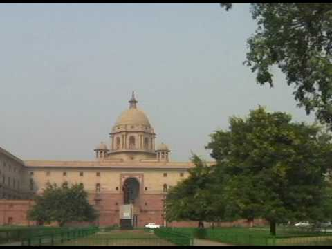 Travel India- Driving around Presidential Palace and near by area at New Delhi