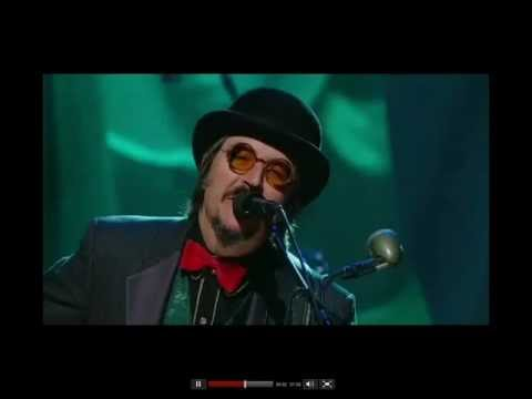 Les Claypool performs at Rush's Hall of Fame ceremony